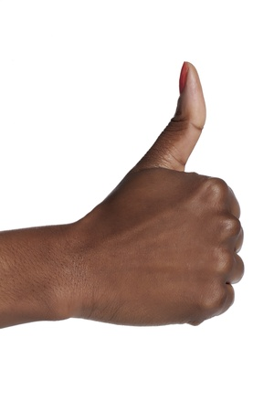 Closeup human hand with thumbs up Stock Photo - 16963176