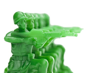 army man: Illustration of Army men ready to shoot Stock Photo