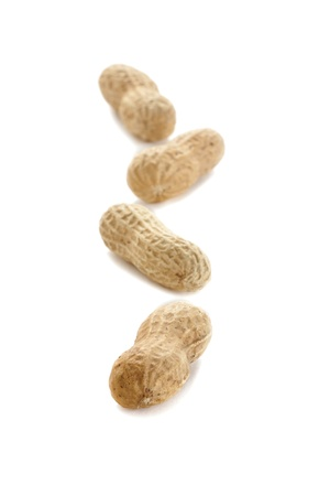 monkey nuts: Ground nuts isolated on white Stock Photo