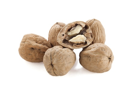 Group of walnuts on a close up image and isolated on Stock Photo - 16962954