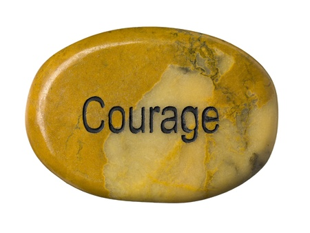 Courage stone isolated on a white background Stock Photo - 16976712