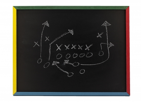 os: Fancy blackboard with Xs and Os