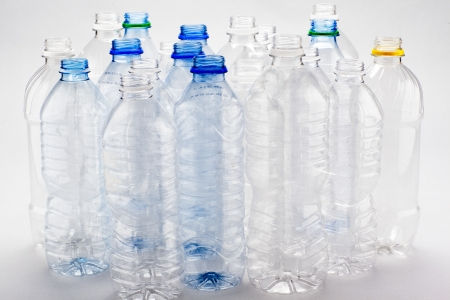 A group of empty water bottles