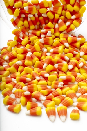 Candy corn is a confectionary that mimics the shape of a corn kernel. Stock Photo - 16973538