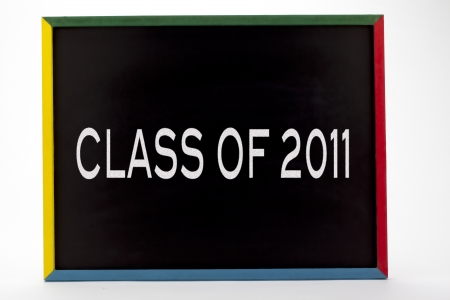 Class of 2011 written on slate board. Stock Photo - 16982404