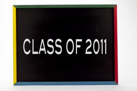 slateboard: Class of 2011 written on slate board.