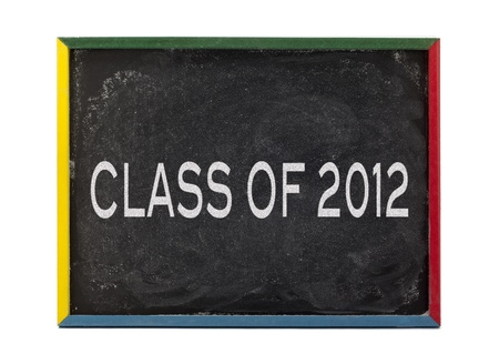 slateboard: Class of 2012 and displayed on white background.