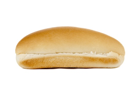 Facade shot of a bun isolated in a white background