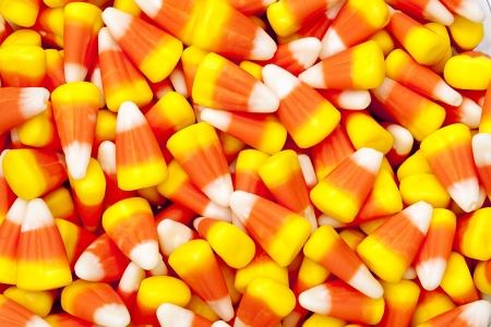 Bright colored candy corn for halloween. Stock Photo - 16973559