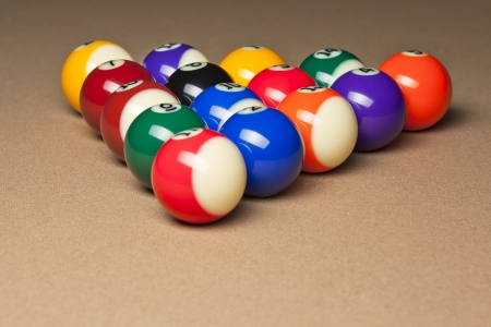 Set of pool balls photo
