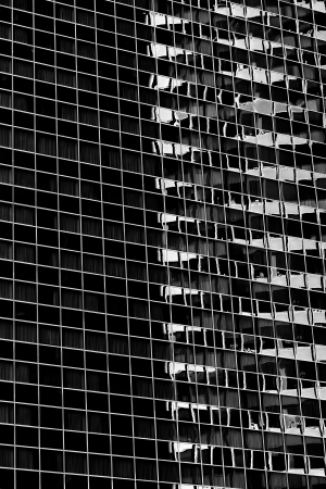 Black and white shot of a commercial building in Chicago Stock Photo - 16976687
