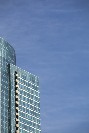 View of blue building in a cropped image Stock Photo - 16976229