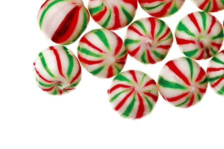 Close-up shot of colorful hard sugar candies over plain white surface Stock Photo - 16973123
