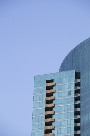 Cropped image of a blue building against blue sky Stock Photo - 16978702