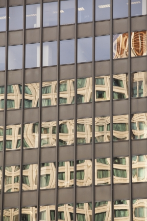 View of reflection on office glass windows  Stock Photo - 16976702