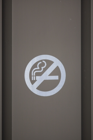 No smoking sign on a grey background