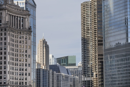 Image of commercial buildings in Chicago city  Stock Photo - 16978763