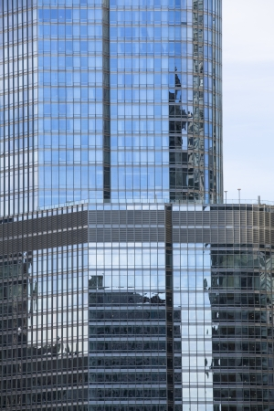 View of reflection of commercial building with glass windows, Chicago  Stock Photo - 16982788