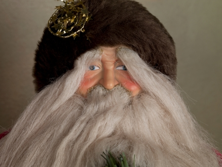 long beard: Cropped image of a Santa Claus with the long beard