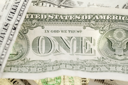 Close-up image of one dollar U.S. banknote. Stock Photo - 16973217