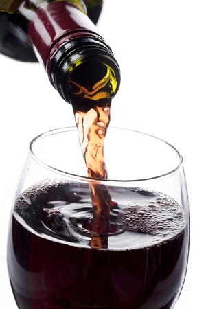 tipsy: Illustration of red wine in a glass