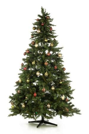 Illustration of Christmas tree in a full length image Stock Illustration - 16973372