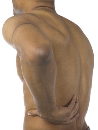 blackman: Black man holding his aching back