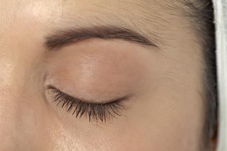 Close left eye of a woman Banque d'images