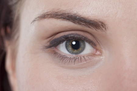 Closed up eye and eyebrow of a woman