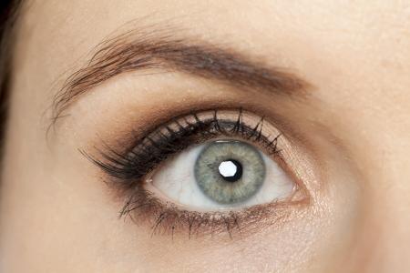 女性灰色の目の画像を閉じる 写真素材