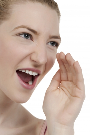 Closed up image of a shouting caucasian woman Stock Photo - 17071111