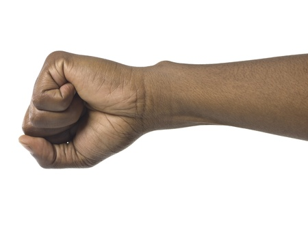 human fist: Isolated image of a clenched human fist