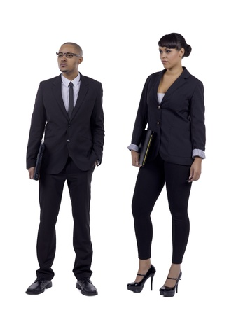 Full length portrait of confident business people against white background Stock Photo - 17083733