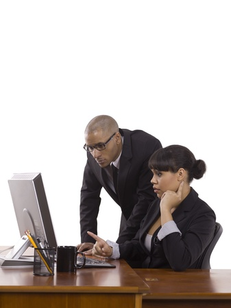 Two businesspeople discussing their work plan Stock Photo - 17071089