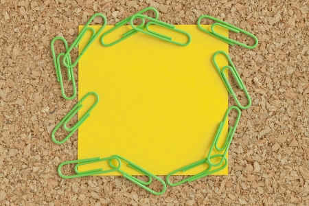 Image of post it paper with paper clips photo