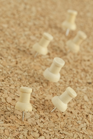 Image of push pins on cork board Stock Photo - 16997096