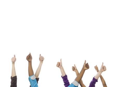 Diverse group of people showing a thumbs up Stock Photo - 16996067