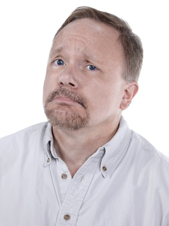 Unhappy old man frowning in a close-up image Stock Photo - 16993035