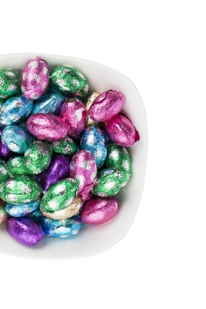 Top view of Easter candies in a bowl. Stock Photo - 16998726