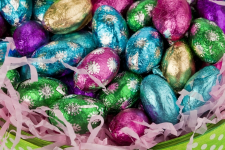 spotted: Easter chocolate eggs wrapped in spotted foil