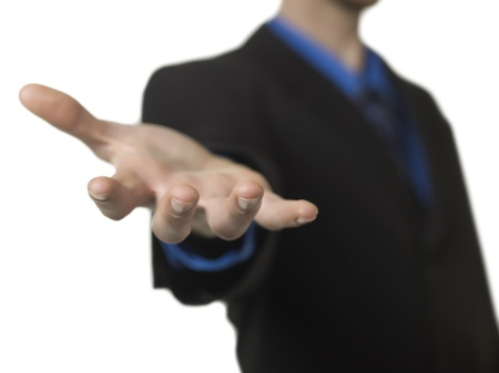 lend a hand: Selective focus image of a businessman extending his hand Stock Photo