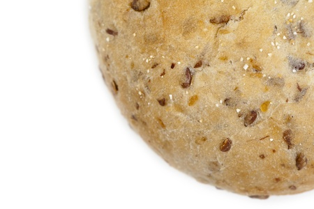 roasted sesame: Closed up cropped shot of a bun filled with roasted sesame seeds