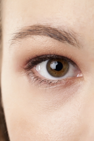 Pretty woman eye in a cropped image