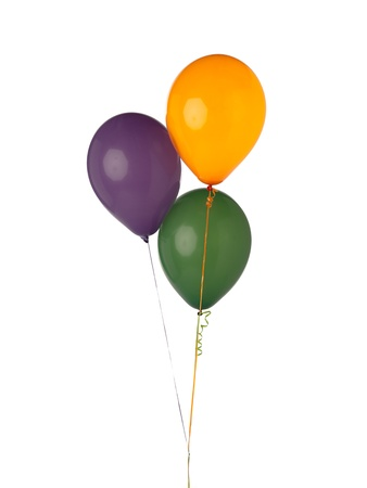 Balloons are notable celebration accessory made from latex in which light air is blown inside to make it float in air. Imagens