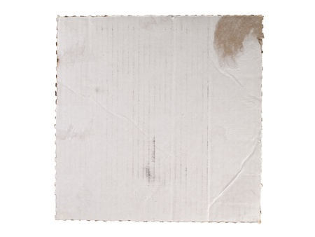 white sheet: Close up image of cardboard sheet against white background