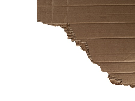 ripped: Ripped brown cardboard isolated in a white background