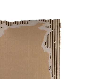 ripped: Ripped cardboard over a white background Stock Photo