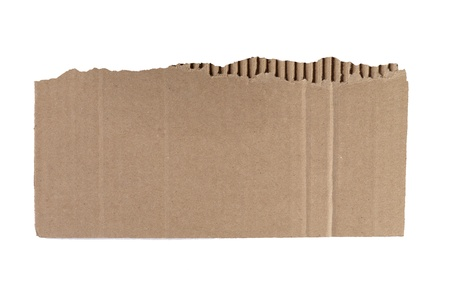 Torn cardboard isolated in a white background 版權商用圖片