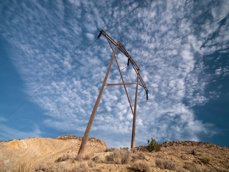 cottonwood canyon: An electrical pole in Cottonwood, USA.