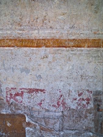 An orange horizontal stripe going across a wall Stock Photo - 17111974